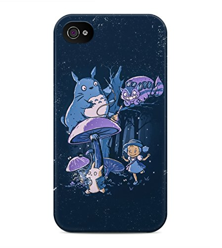 My Neighbor Totoro All Characters Hard Plastic Snap On Back Case Cover For iPhone 4 / 4s Custodia
