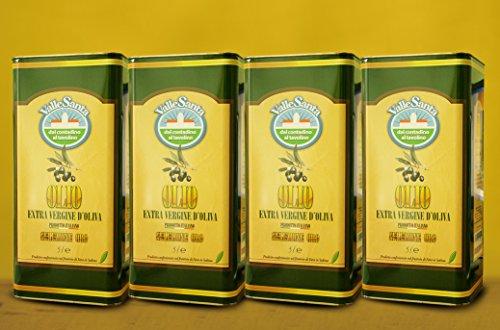 Olio extra vergine di oliva nuova spremitura 20 lt 4 latte (o103n)