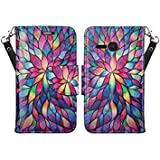 Alcatel One Touch Pixi Eclipse Case (TracFone) Slim Leather Luxury Flip Design Wallet