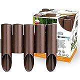 CF - Confezione da 8 recinzioni/bordure per aiuola, lunghezza 2,3 metri, altezza 25,5 cm, colore: Marrone