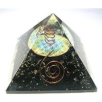VAASTU Blumen-des-Lebens-Pyramide aus schwarzem Turmalin, Heilung, Reiki, Feng, Shui, Psychische Energie, Aura... preisvergleich bei billige-tabletten.eu