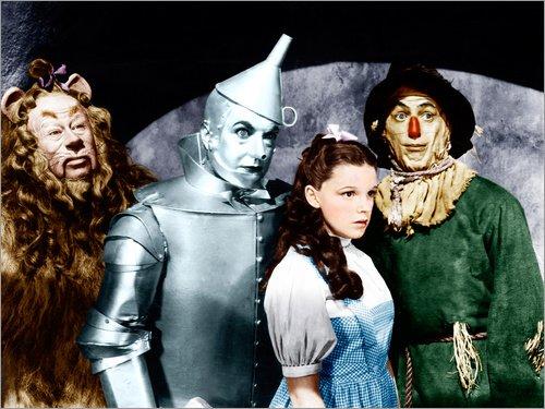 Poster 80 x 60 cm: Der Zauberer von Oz von Everett Collection - hochwertiger Kunstdruck, neues Kunstposter