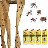 Wawer Insekten-Klebe-Falle, Starke Fliegen Traps Bugs Sticky Board Fang Blattlaus Insekten Pest Killer (4 Rolls)