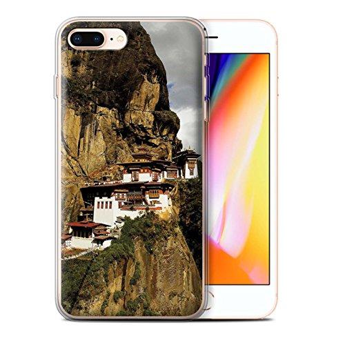Stuff4 Gel TPU Hülle / Case für Apple iPhone 8 Plus / OM Tempel Muster / Innerer Frieden Kollektion Paro Taktsang