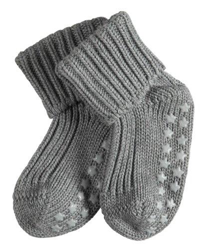 FALKE Unisex-Baby Socken Cotton Catspads, Einfarbig, Gr. 74-80 (Herstellergröße: 6-12 Monate), Grau (Light Grey)