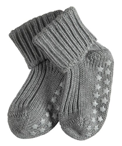 falke babysocken FALKE rutschfeste Cotton Babys Socken Babysocken Catspads - grau, 1 Paar, Noppen (ABS), für Jungen Mädchen, Stoppersocken