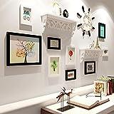 Ludage Haus Dekoration Foto Schlafzimmer aus massivem Holz Kombination Wohnzimmer Wandgestaltung Wand-Wand