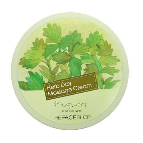 The Face Shop Herb Day Massage Cream - Mugwort (150ml) - Face Shop-herb