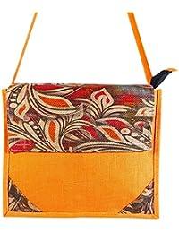 Sankh 14.75x4x12 Inch Bag-Jute Printed Fashion Shoppers Bags