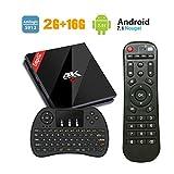 [Mini Wireless Tastiera] EstgoSZ 4K Ultra HD Android 7.1 Smart TV Box con 2GB RAM 16GB ROM Amlogic S912 64bit Octa-core CPU Support 2.4G/5G Dual-Band Wifi 1000M LAN H.265 3D Bluetooth 4.1 Set Top Box