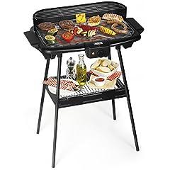 Idea Regalo - Princess Barbecue elettrico 112247 – Dotato di supporto – Grandi dimensioni