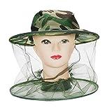 Timagebreze Apicoltore Anti Mosquito Cimice Insetto Volare Maschera Cappello con Netto Protezione per la faccia a maglia