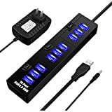 USB Hub 3.0, ELEGIANT High Speed 10-Port USB Data Hub Splitter With AC Power Adapter And Charging Ports For Computer MacBook Mac Pro/Mini Surface Pro 4 Laptop Notebook PC Mobile HDD