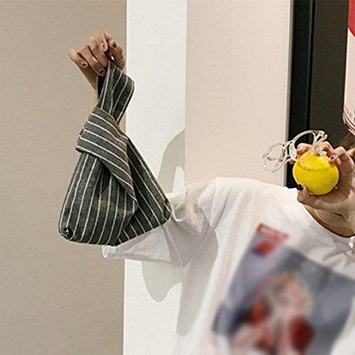 Laat pieghevole cinturino borsa in pelle donne borsa frizione sacchi porta carte di credito soldi di stoccaggio della corsa trasporta zaini piccola borsa tote bag Color 1 21*17*5 Striped
