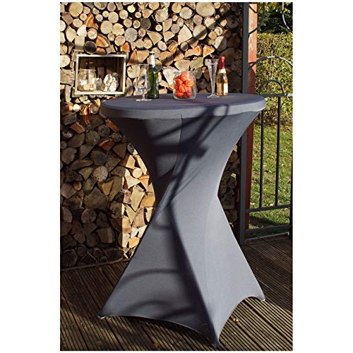TRUTZHOLM 1 Stück Tischdecke Husse für Partytisch Bistrotisch Stehtischhusse Decke 60-80 cm Klapptisch Tischüberzug Tischhusse