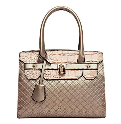 YouPue Damen Leder Handtaschen Umhängetasche Taschen Damen Handtaschen PU Leder Gold