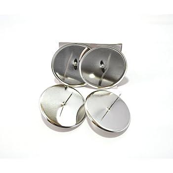 4 st ck adventskerzenhalter 8cm silber. Black Bedroom Furniture Sets. Home Design Ideas