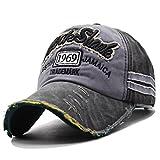 Kuyou Vintage Casquettes de Baseball Unisexe Chapeau Sport Trucker Hat (Noir)