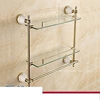 Stile europeo bagno monostrato bagno mensola in vetro/ parete Monte antico bagno doppio comò-C