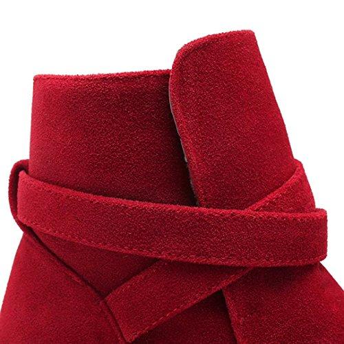 AIYOUMEI , Bottes classiques femme Rouge