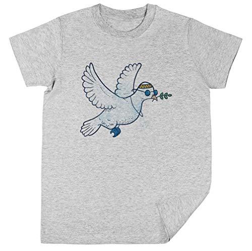 Das Hippie Taube Kinder Unisex Jungen Mädchen Grau T-Shirt Kids Unisex T-Shirt