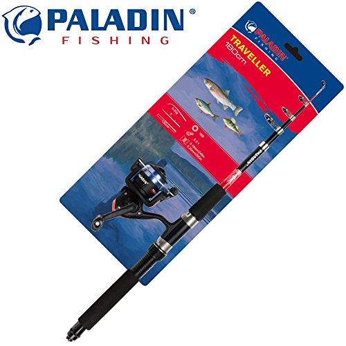 Paladin Angelset Forelle Barsch Angelrute 180cm 5-20g + Rolle + Schnur - Angelset zum Forellenangeln, Angel Set zum Barschangeln