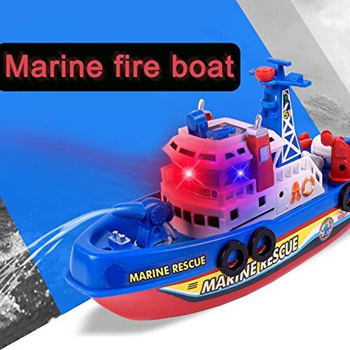 yibenwanligod Lustige Elektrische Brandbekämpfung Wasser Jet Boot Spielzeug Musik Licht Kinder Multicolor (Musik-jet)