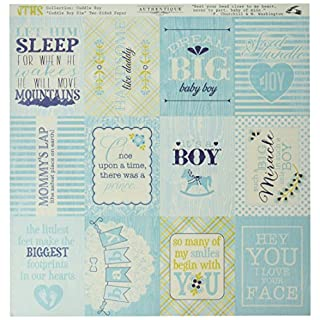 Authentique Paper Cuddle Boy Cardstock Stickers 12-inch x 12-inch-Details, Other, Multicoloured