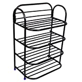 #6: Ebee Shoe Rack with 4 Shelves (Black)