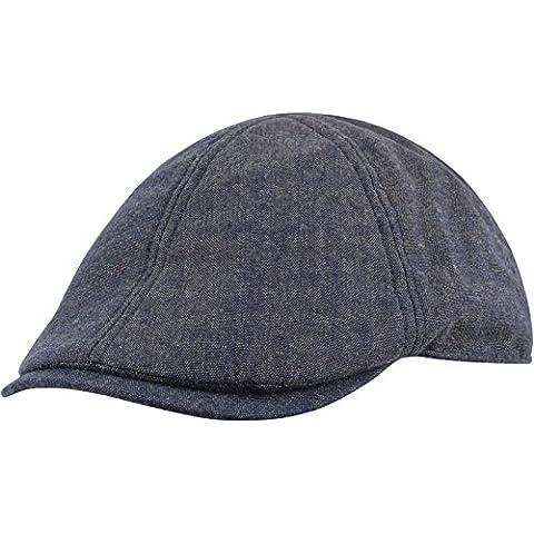 Verano Gatsby gorra plana de algodón-tejidos de lino azul Talla:talla única