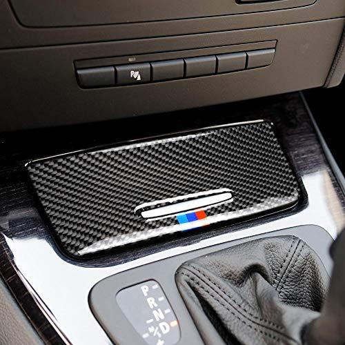 IBaste_top Sticker Car Storage Box in Fibra di Carbonio Pannello Decorazione Interna Trim Cover Decalcomanie per BMW E90 E92 E93 2005-2012 3 Accessori Serie Adaptable
