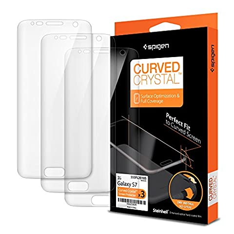 Protection ecran Galaxy S7, Spigen Samsung S7 Curved Crystal film protection X2 Ultra Resistant aux rayures LCD Film pour Samsung Galaxy S7 555FL20105