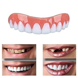 GLEYDY Kosmetische Zähne Sofortiges Lächeln Zähne Whitening Prothese Perfekte Smile,Quick Dental Tooth Provisorischer Zahnersatz Zahnprothese,Obere und Untere Prothese