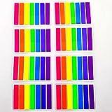 JZK 2240 x Traslucida scrivibile mini segnapagina plastica colorati etichette adesive evidenziatore pagina libro segnalibro, regalo bomboniera festa bambini adulti