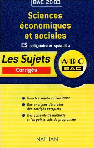ABC Bac : Sciences économiques et sociales, Bac ES