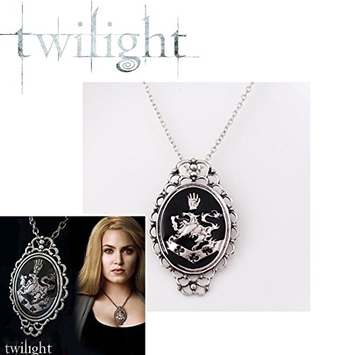 (Inception Pro Infinite Twilight Halskette Rosalie Cosplay Halskette 5.5X4 cm Farbe Metall Silber)