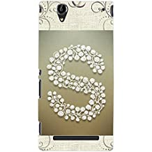 """ColourCraft Alphabet """"S"""" Design Back Case Cover for SONY XPERIA T2 ULTRA DUAL D5322"""