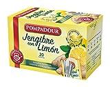Pompadour Té Infusion Jengibre con Limón 20 bolsitas - Pack de 2 (Total 40...
