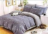 Louisiana Bedding Geometric Stripe Copripiumino Reversibile Set 100% Cotone 200 Conteggio Fili Multi- Super re