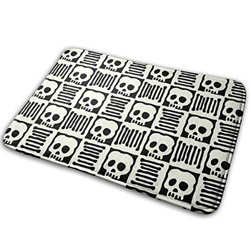 ue Flower Skulls Bath Mat Non Slip Absorbent Super Cozy Velvet Bathroom Rug Carpet Bath Rugs ()