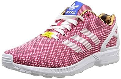 adidas Originals Zx Flux Weave W, Baskets mode femme - Rose (Ftwbla/Fravif/Bleu), 36 EU
