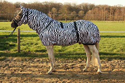 Hafer24 Ekzemerdecke Master mit Fliegenmaske - Farbe Zebra (105 cm/Maske XS)