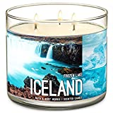 "Bath & Body Works- 3 Wick Scented Candle - Frozen Lake €"" Icel"