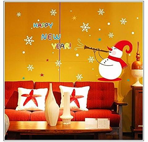 Tutoy Bonne année Bonhomme de neige Noël Décorable Bricolage Fenêtre Wall Sticker Accueil Décoration de