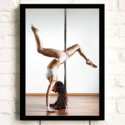 Neue hochwertige Wand Leinwand Malerei über Lady tanzen auf Stahlrohr Vintage Poster für -in Einer Gruppe 60x90 cm Kein Rahmen Weiß -