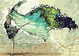 YEESAM ART neuen 5d Diamant-Gemälde, Romantik-Tänzerin 40x 40cm–DIY Kristall Diamant Strass Gemälde, Malen nach Zahlen Kreuzstich Stickerei