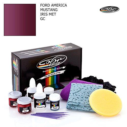 FORD AMERICA MUSTANG / IRIS MET - GC / COLOR N DRIVE AUSBESSERUNGSLACK SET FÜR KRATZER UND STEINSCHLAGSPUREN AN IHREM AUTO / PRO PACK (Iris Drive Auto)