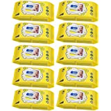 Wippee 80N With LID Baby Wipes With Almond Oil ( Pack Of 10)