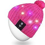Mydeal LED Schnur Leuchten Beanie Hut Strickmütze mit Kupferdraht Bunte Lichter 4 Fuß 18 LEDs für Männer Frauen Indoor und Outdoor, Festival, Urlaub, Feiern, Partys, Bar, Rose