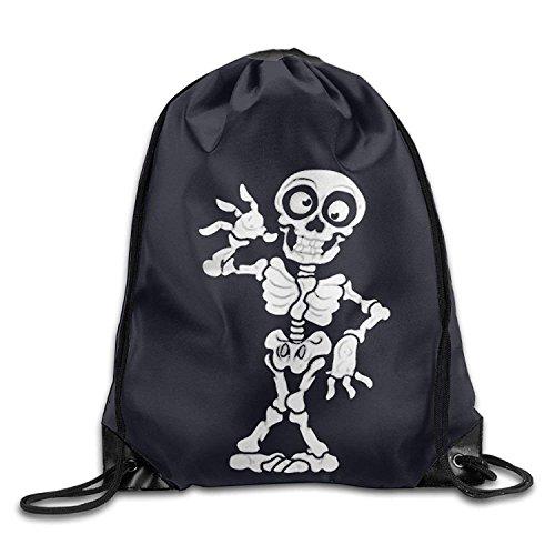 Kordelzug Turnbeutel Rucksack Menschliches Skelett Print Rucksack Schulter Taschen Sports Tragbar Tasche